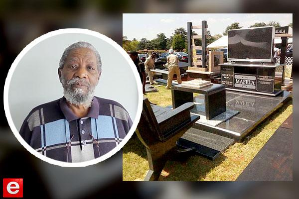 Watch: Joe Mafela's funeral and exquisite tombstone!