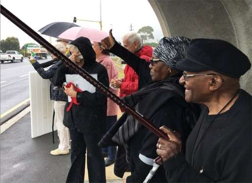Archbishop Emeritus Desmond Tutu joins nationwide anti-Zuma march.