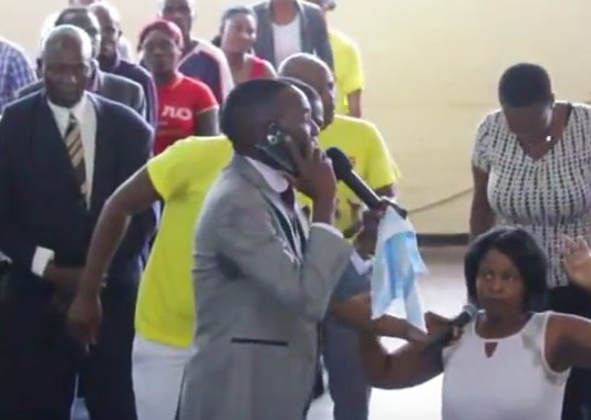 Forget about the doom pastor, this one claims to have a direct phone number to heaven!
