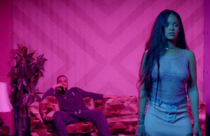 Sad-looking Champange' Papi rocks Rihanna's socks!