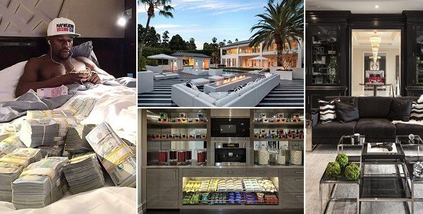 Pictures: Floyd ''Money'' Mayweather treats himself with $26 million dollar mansion!