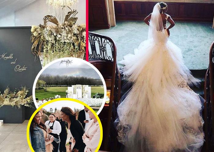 In Pics Minnie Dlamini S Star Studded White Wedding