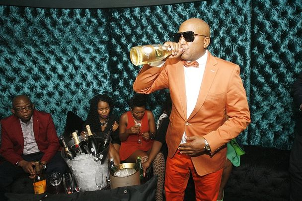 Father of blessers, Kenny Kunene gets blessed during his surprise birthday party.