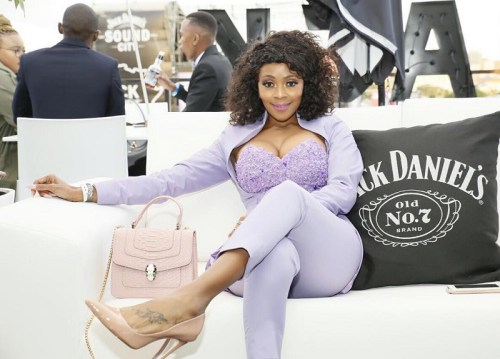 Pics: Thembi Seete flashes her brand new set of wheels!