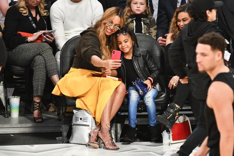 PICS: Blue Ivy's Handbag Cost More Than Mom Beyoncé's Outfit At The All-Star Game