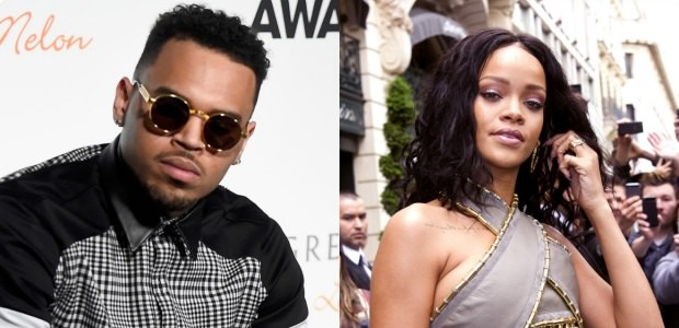 Insecurities? Rihanna's new bae reportedly watching Chris Brown like a hawk!