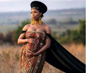Minnie Dlamini Jones debuts baby bu