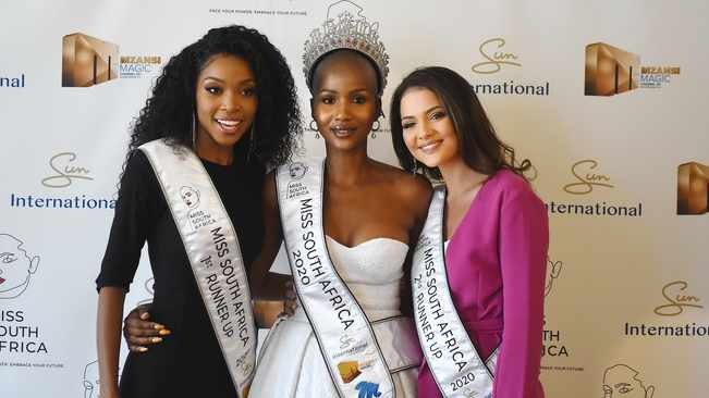 Miss South Africa 2020's top three set to take on three global stages