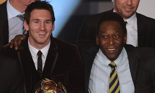 Brazil soccer legend Pele congratulates Messi for matching his scoring record