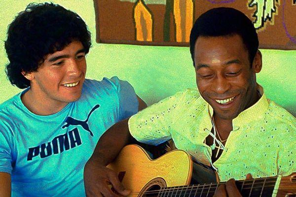 Pele writes a love message for the late legend, Maradona