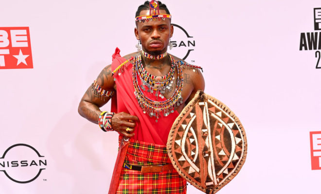 How Diamond Platnumz represented Africa with his Maasai Outfit at the BET Awards Gala Night